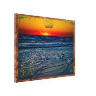 Royal Tequila Sunrise Over Atlantic & Daytona Bch Canvas Print