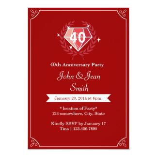 33 Surprise 40th Wedding Anniversary Invitations