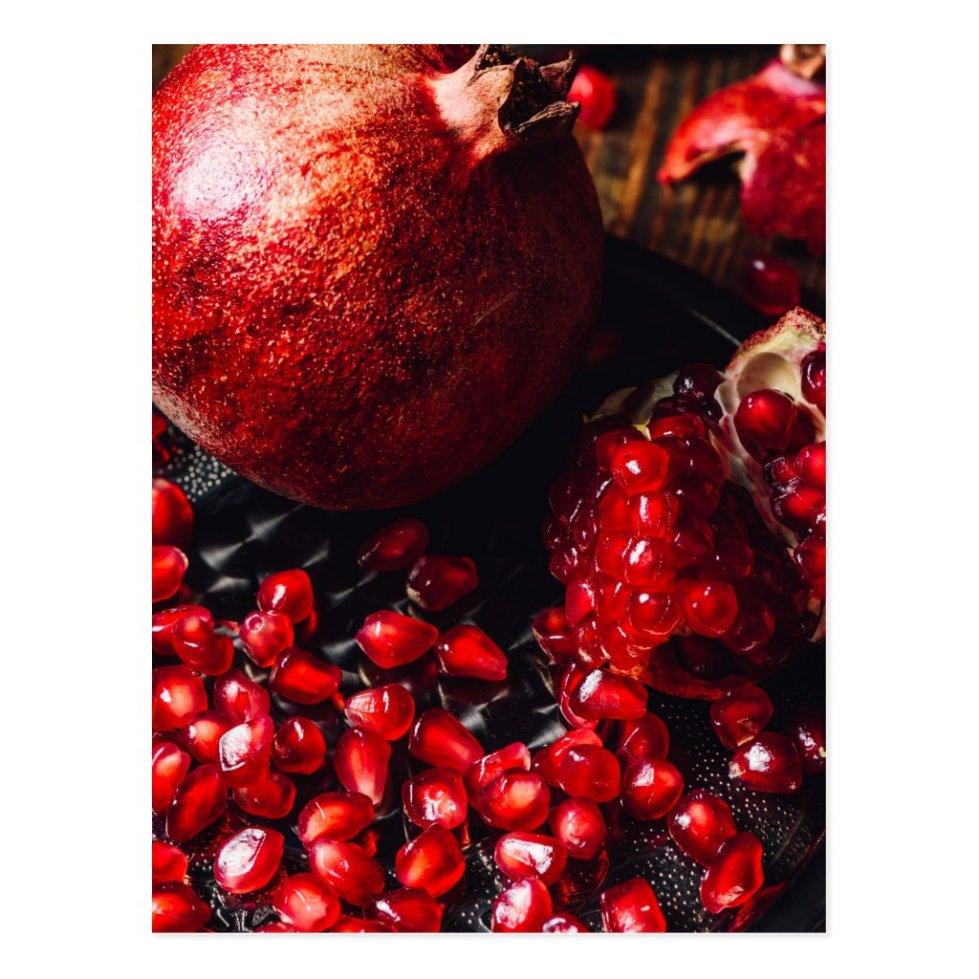 Ruby pomegranate postcard