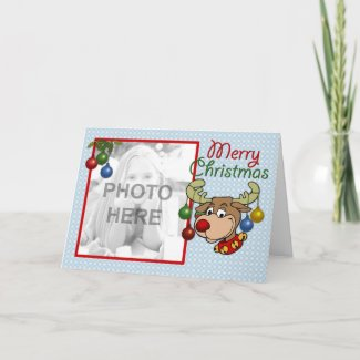 Rudolph Greetings card