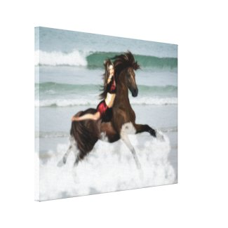 Running the Beach Canvas Print