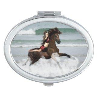 Running the Beach Mirror For Makeup