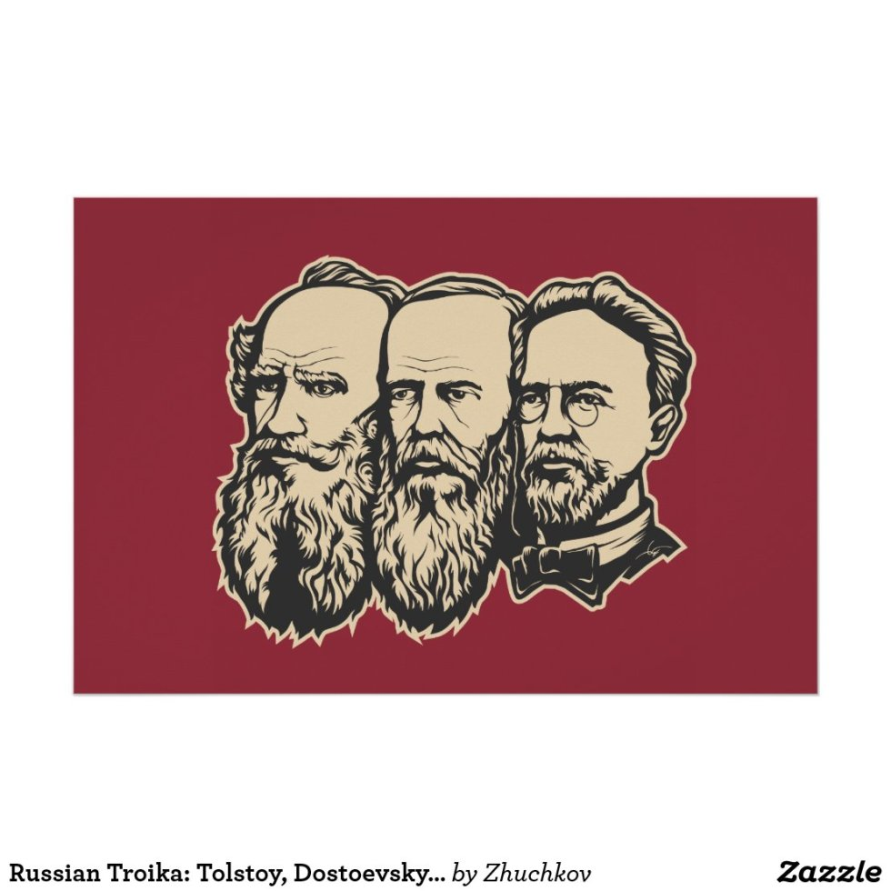 Russian Troika: Tolstoy, Dostoevsky, Chekhov Poster