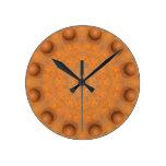 Rust-Mandala, Colors of Rust_843_2 Round Clock