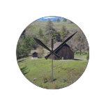 Rustic Barn Round Clock