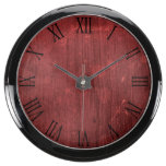 Rustic Beautiful Wood Texture Aquavista Clocks