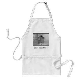 Rustic Birdhouse Aprons