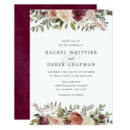 Rustic Bloom Wedding Invitation