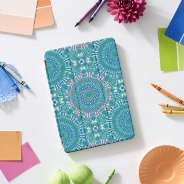 Rustic Bohemian Geometric Mandala Blue Purple iPad Pro Cover