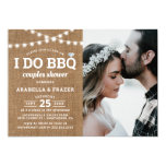 Rustic Burlap I Do BBQ Couples Shower Invitation