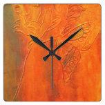 rustic butterfly clock