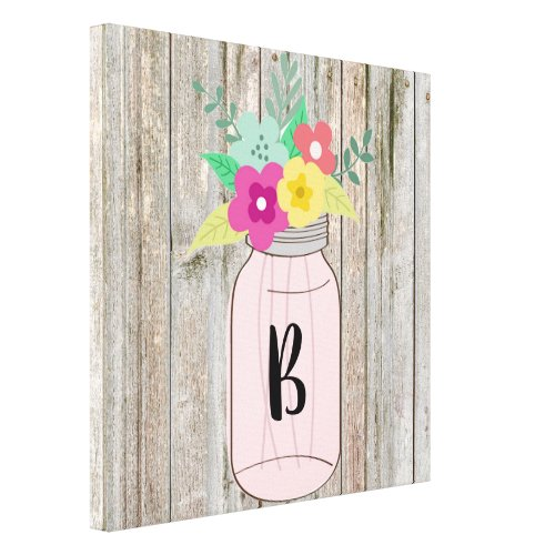Rustic Chic Monogrammed Canvas