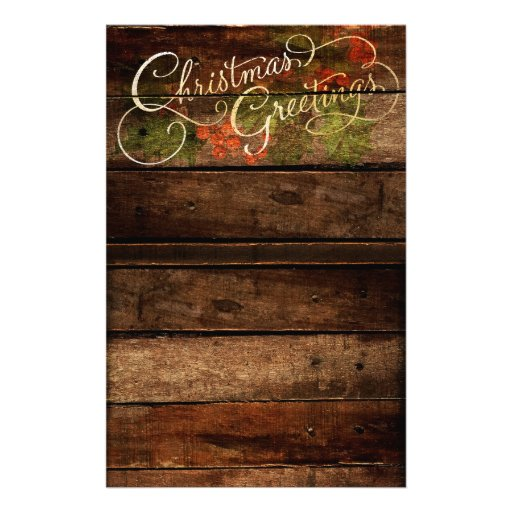 Rustic Country Christmas Stationery Zazzle