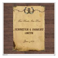 Rustic Country Horseshoes Wedding Wall Cling Wall Sticker ...