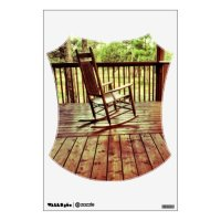 Rustic Country Porch Rocking Chair Room Wall Decal | Zazzle