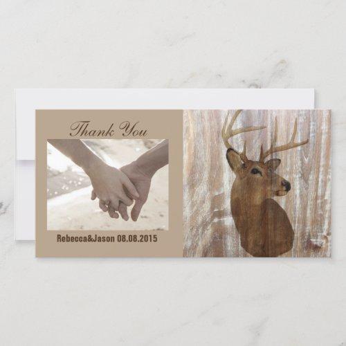 rustic deer the hunt is over wedding thank you