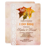 Rustic Fall in Love Lace I DO BBQ Invitation