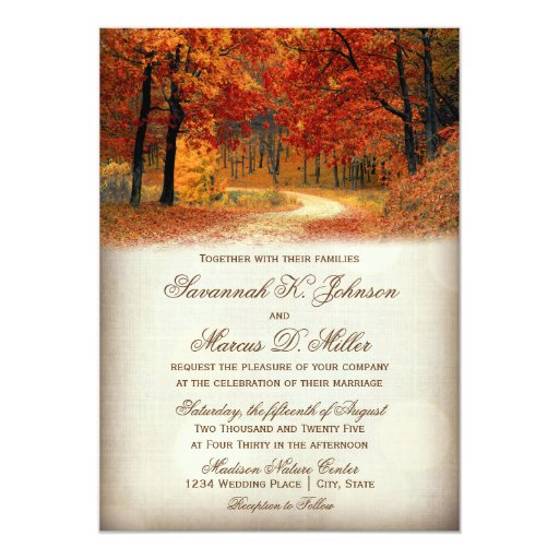 Autumn Rustic Wedding Invitations
