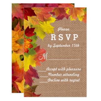 Fall Foliage Wedding Invitation Postcard