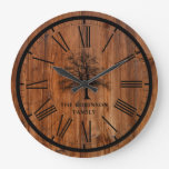 Rustic Family Tree | Country Large Clock