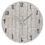 Rustic Farmhouse Shabby Chic White Wood Decorative Large Clock
