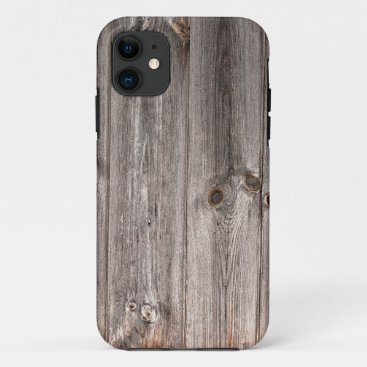 Rustic Faux Wood Texture iPhone 11 Case