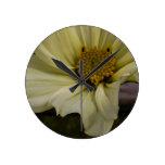 Rustic Flower Round Clock