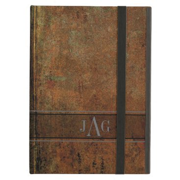 Rustic Grunge Brown Book Design iPad Air Cover