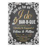 Rustic I Do BBQ Invitations