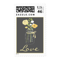 Rustic Mason Jar Love Stamps