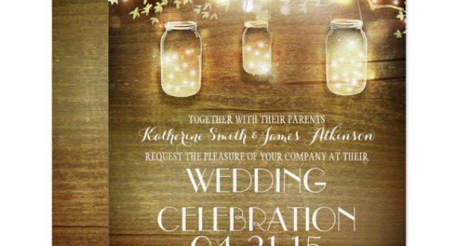 Rustic Country Sunflower Wood Wedding Invitations
