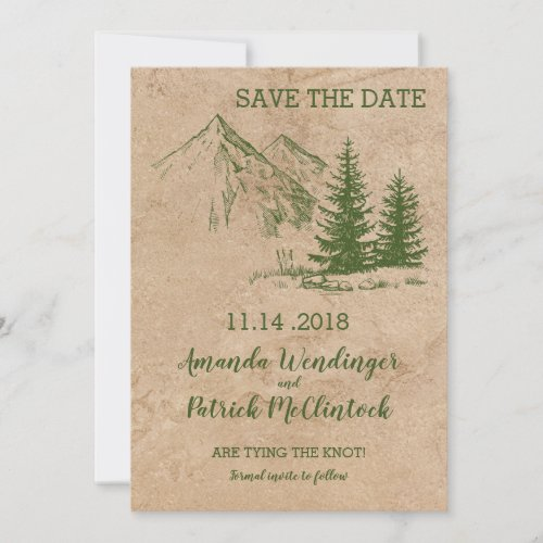 Rustic Mountain Scenic Save the Date