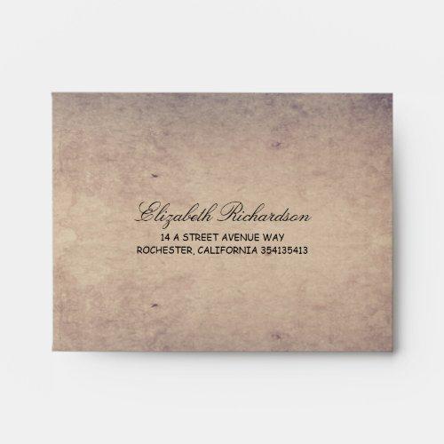Rustic Navy and Cream Wedding RSVP Envelope