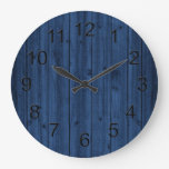 Rustic Navy Blue Wood Texture