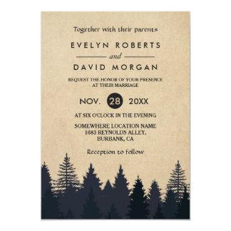 String Lights Rustic Tree Wedding Invitations