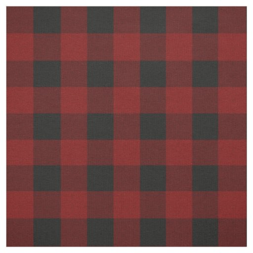 Red Black Buffalo Check Fabric By The Yard