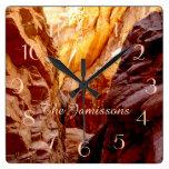 Rustic Southwest Slot Canyon NV Clock Personalized