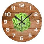 Rustic Succulent Wall Clock