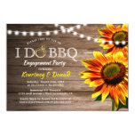 Rustic Sunflower 'I Do BBQ' | Engagement Party Invitation