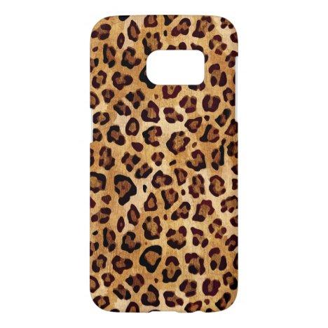 Rustic Texture Leopard Print Samsung Galaxy S7 Case