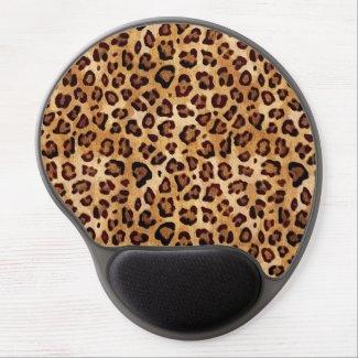 Rustic Texture Leopard Print Gel MousePad