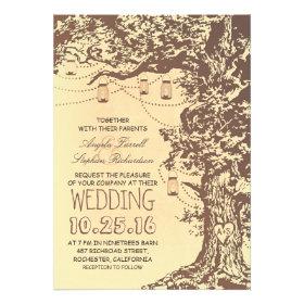 Oak Tree Wedding Invitations Rustic Country