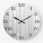 Rustic vintage drift wood Roman numbers Large Clock