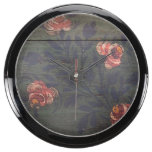Rustic vintage flowers aquarium clocks