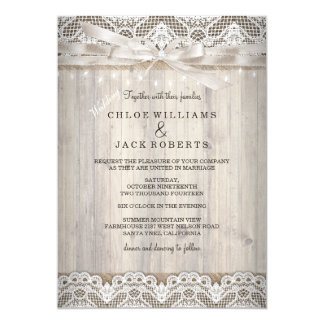 Lace Wedding Invitations How Ing