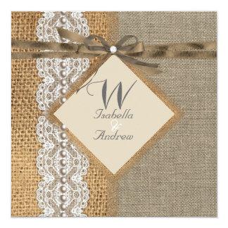 Burlap Wedding Invitation Bundle
