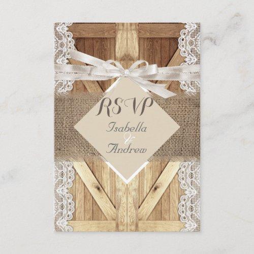 Rustic Wedding Door Beige White Lace Wood RSVP