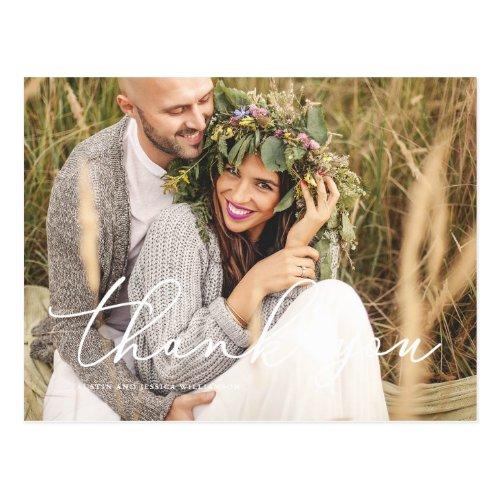 Rustic Wedding Thank You Post Card