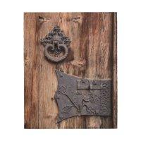 Rustic Wood Door Wooden Wall Art | Zazzle