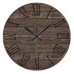 Rustic Wood Effect Brown Clocks